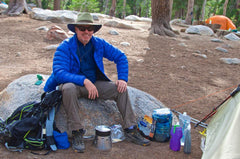 John Jennings poses with his new Caldera Sidewinder at May Lake in Yosemite.