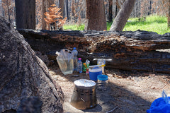 Even though he was hiking through a burned out area of Yosemite, Urs Grutter notes that the Ti Tri did NOT burn the food! :-)