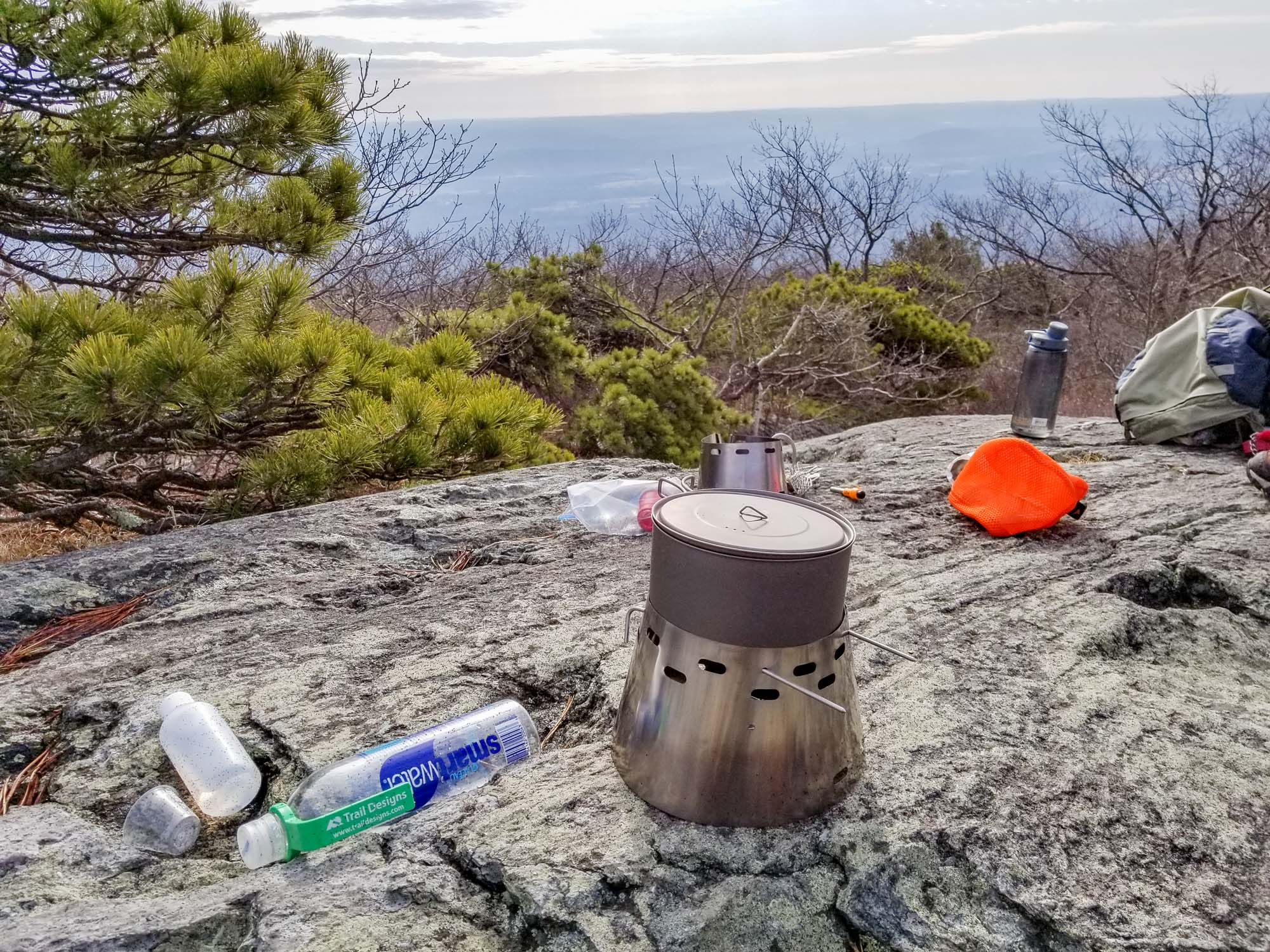 Daniel Taylor send us this picture of his Ti-Tri from Mt Everett in Southwest Massachusetts while hiking the AT!