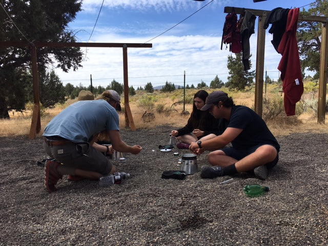 Trevor McKee sends us these shots of his Outward Bound students learning how to use their Caldera Sidewinder Solo rigs!