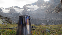 David Eitemiller sends us this picture of his Ti-Tri at dinner time below Mt Gannet, Day 5 into the Wind River High Route