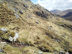 "Sabine Zawadzki sends us this picture from the lunchtime on the Cape Wrath Trail - between Sourlies and Barisdale. Her Ti-Tri is doing a ""Where's Waldo"" puzzle....can you find it?"