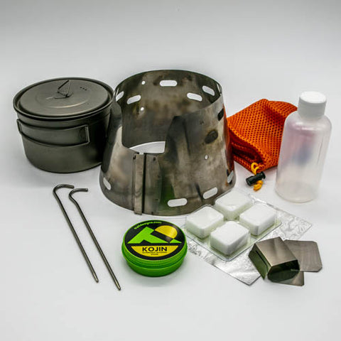 Toaks 700ml Pot + Sidewinder Ti-Tri Bundle