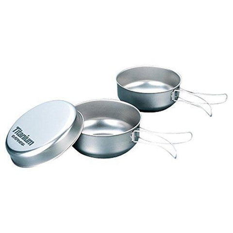 Evernew Titanium Bowl Set with Handle (EBY156)