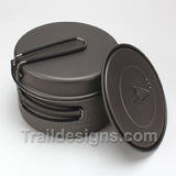 Toaks 1350ml UL Pot + Frying Pan Lid - EXTRA LID INCLUDED!