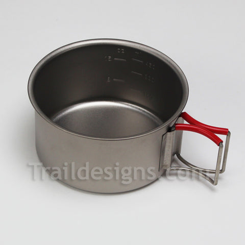 Evernew 570ml Ultra Light Titanium Pot/Cup (EBY278R)