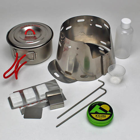 Toaks 900ml Pot + Sidewinder Ti-Tri Bundle