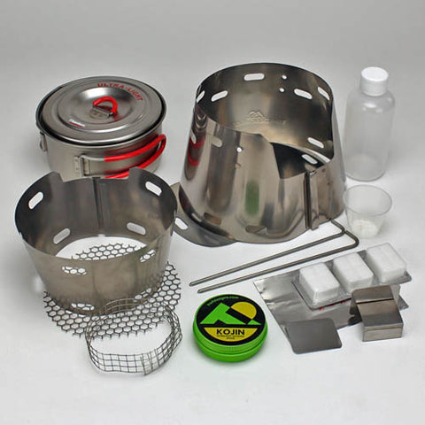 Evernew 900ml Short UL Pot + Sidewinder Ti-Tri Bundle