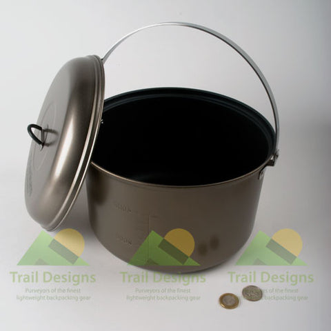 Evernew Titanium Non-Stick 5800ml Pot Set (ECA429)