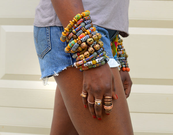 Krobo Stack Bracelets (set of 4)