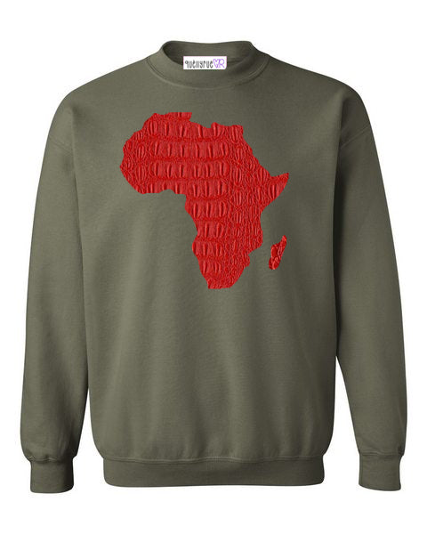 Motherland  Red Gator Sweatshirt