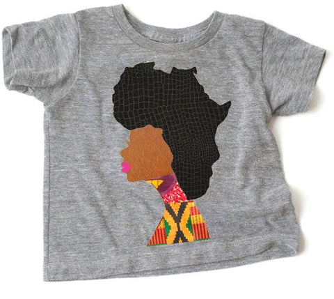 KIDS: Afro Woman T-shirt