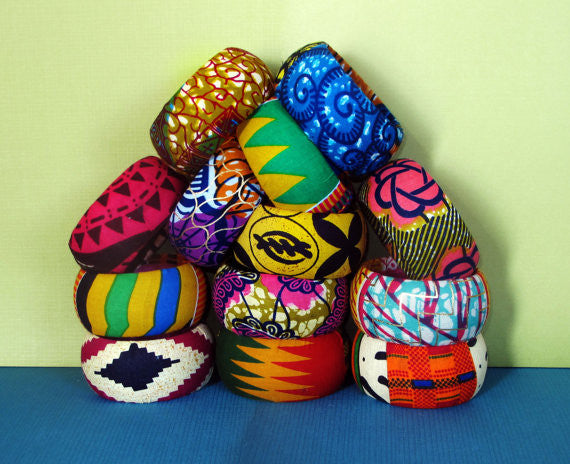 African Print Bangles