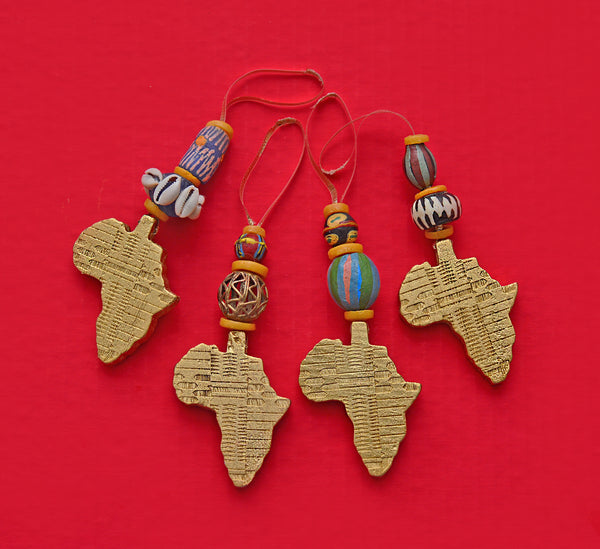 Shape of Africa Ornament