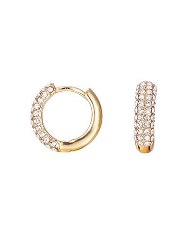 Lisa Gozlan - Gold Crystal Hoops