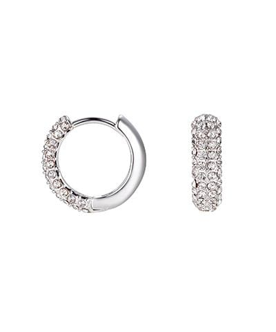 Lisa Gozlan - Silver Crystal Hoops
