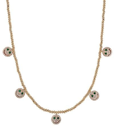 Lisa Gozlan - Gold Happy Face Necklace