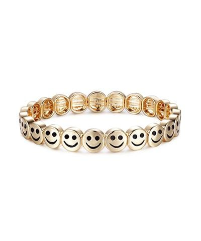 Lisa Gozlan - Gold Happy Face Wristband