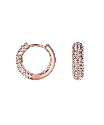 Lisa Gozlan - Rose Gold Crystal Hoops