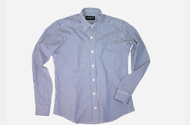 Women's Navy Gingham