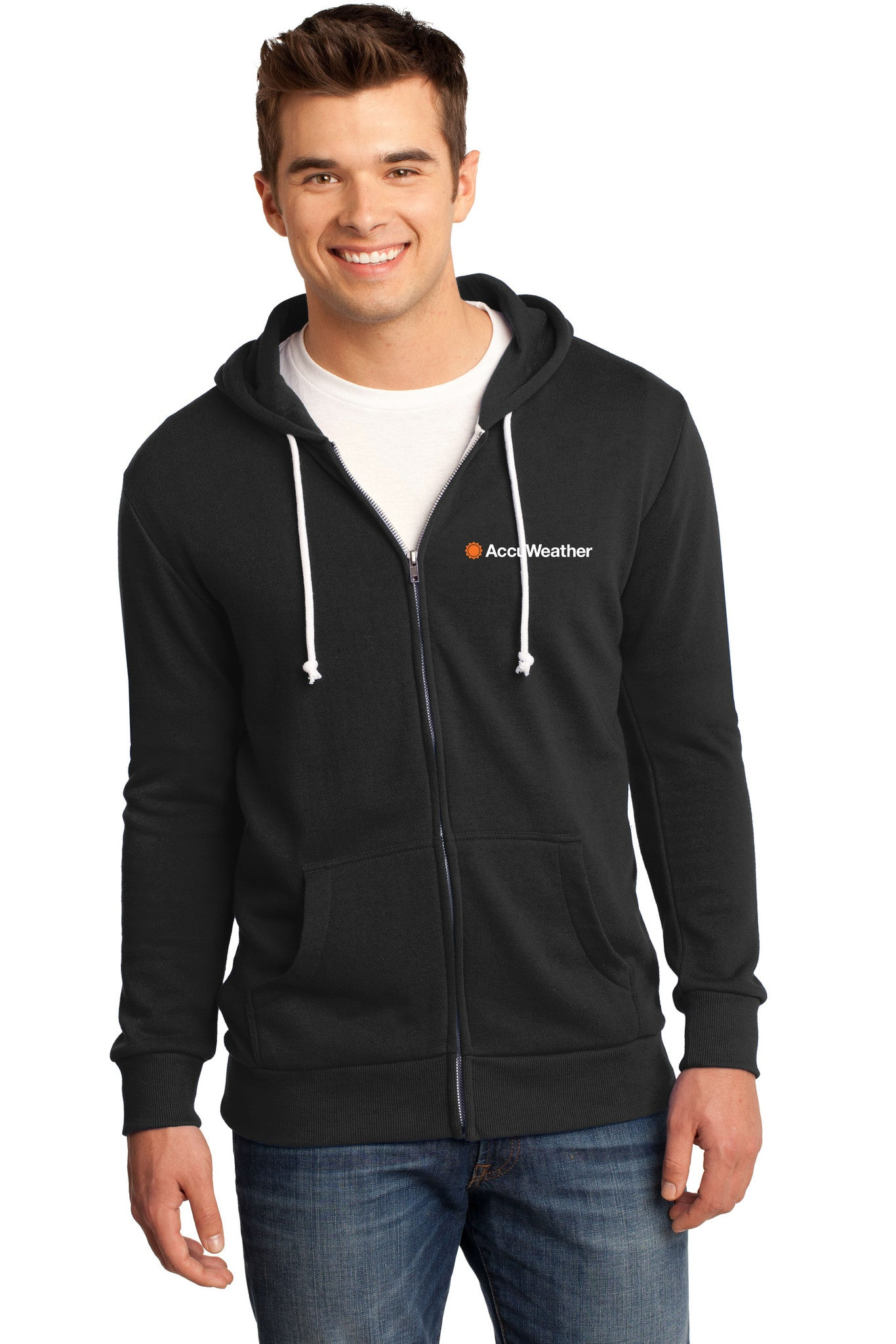 Young Mens Core Fleece Full-Zip Hoodie