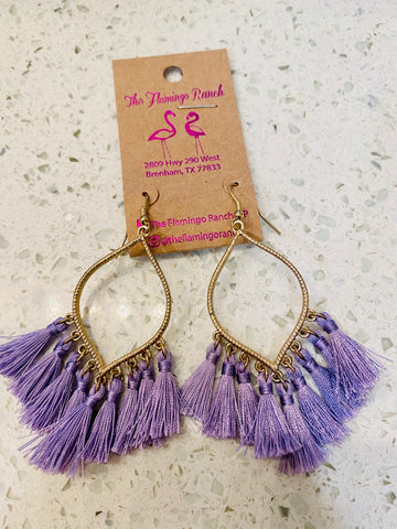 Teardrop Tassle Earrings