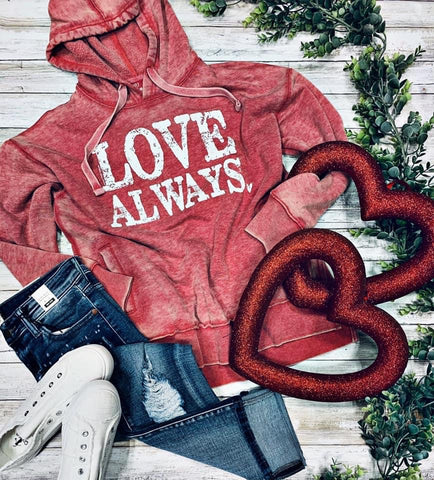 Love Always Red Hoodie