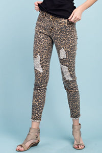 THE FLAMINGO RANCH Leopard Distressed Jean