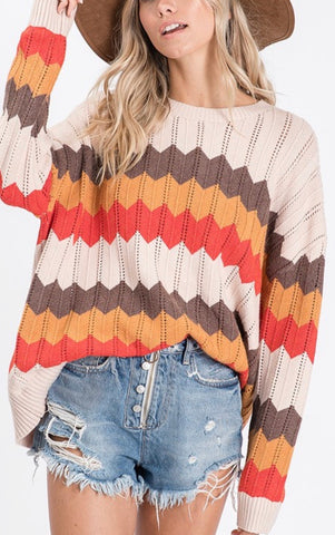 Wave Stripe Sweater