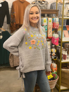 Floral Emb So Soft Sweater