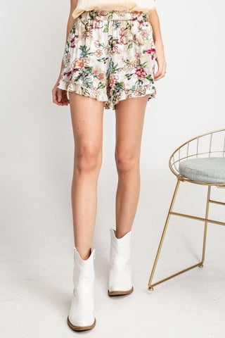 Challie Floral Print Shorts