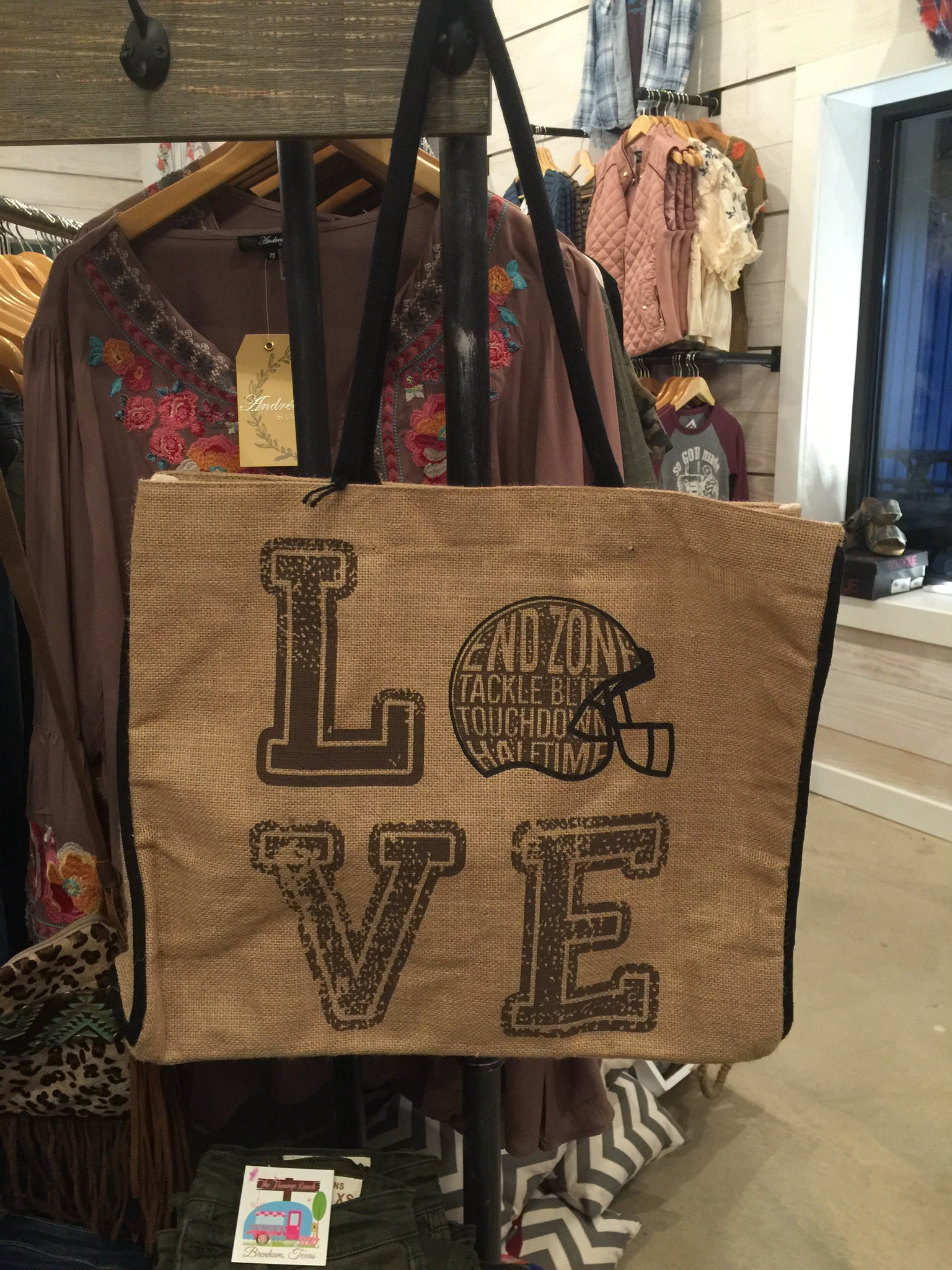 Burlap Game Day Tote