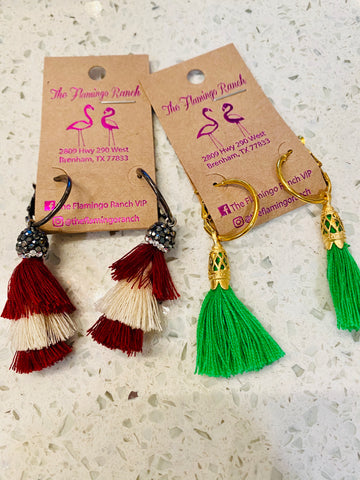 Beth's Small Tassle Earrings