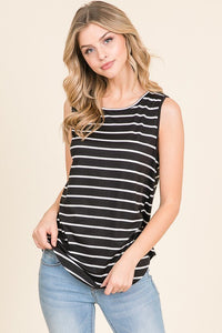 Striped Sleeveless Tank