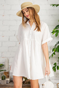 Zinnia Button Down  Tunic/Dress