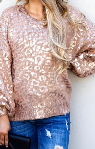 Gold Leopard Pullover