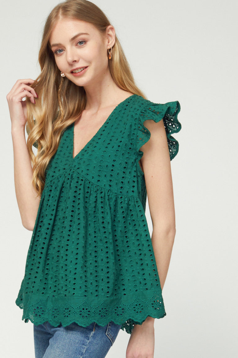 Jodie Eyelet Top