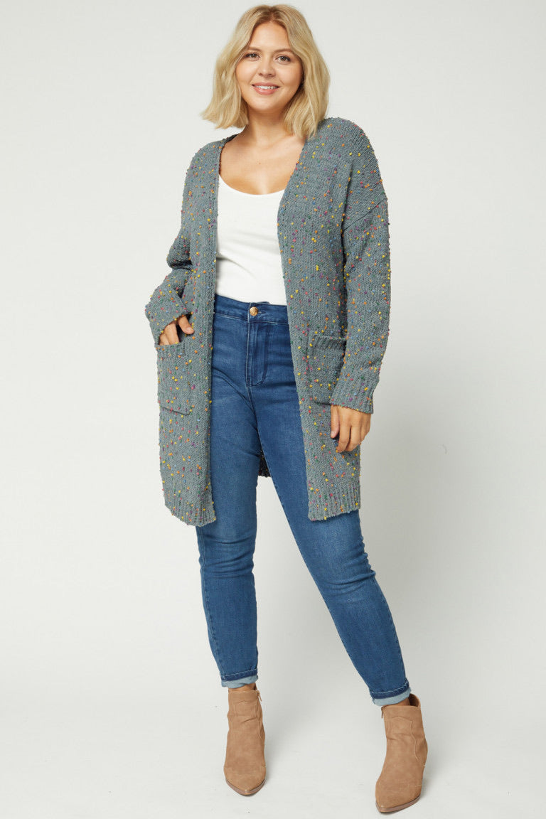 Speckled Sweater Cardi