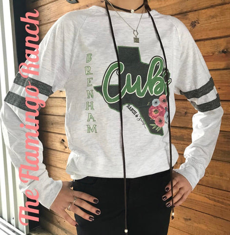 Brenham Cubs Long Sleeve Tee