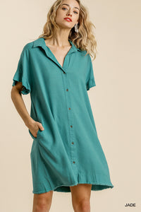 Linen Button Up Dress