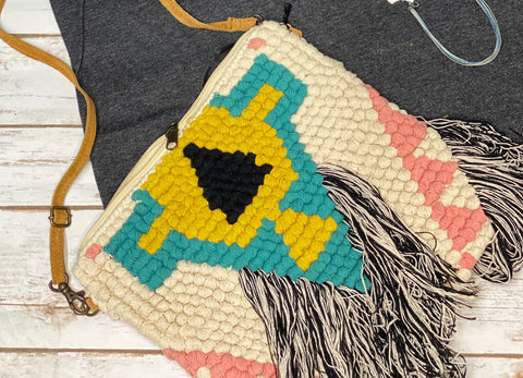 Knotted Fringed Bag
