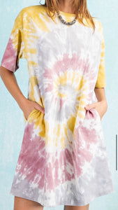 Tie Dye Loose Fit Dress