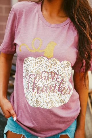 Give Thanks Glitter Tee