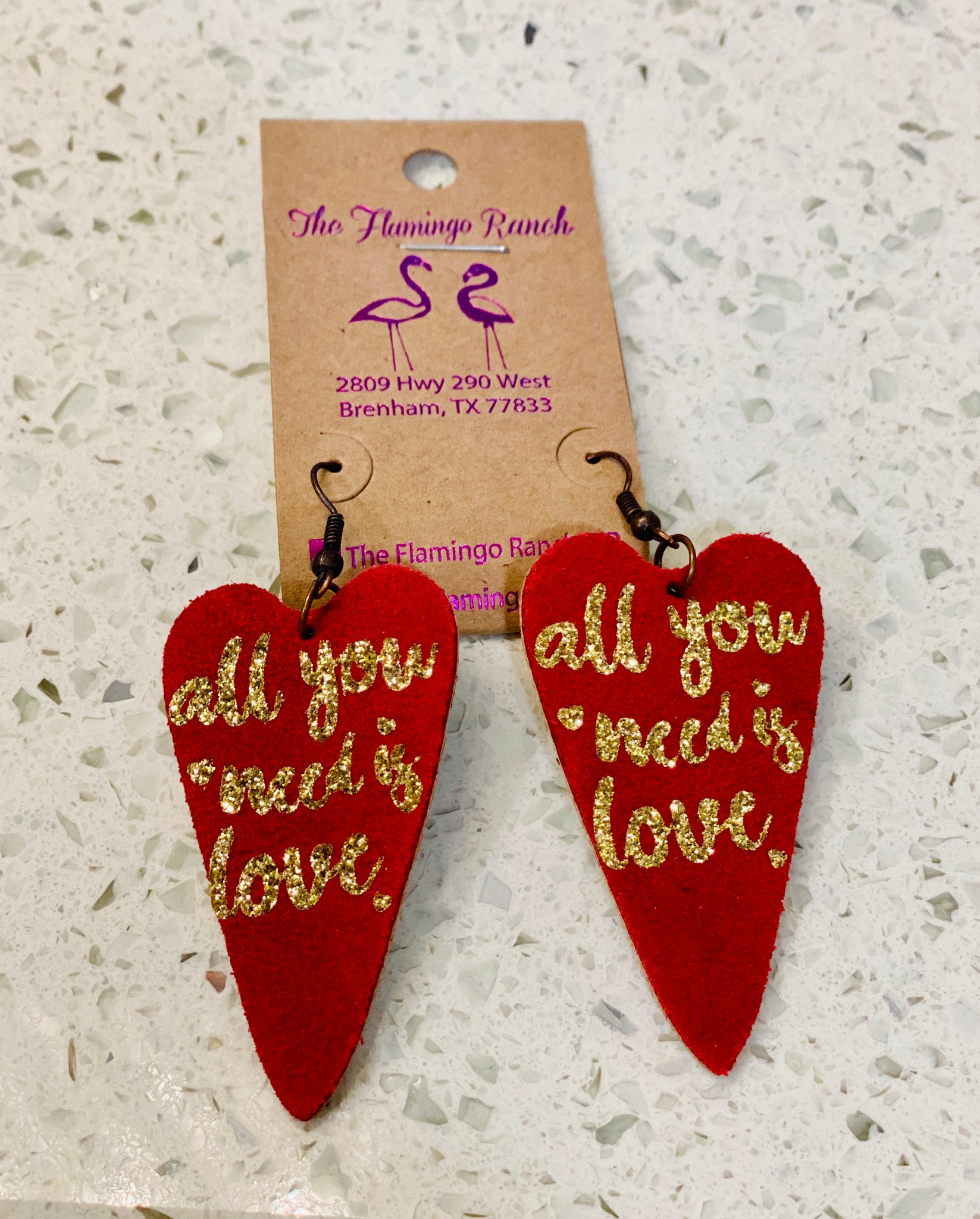 PF Heart Earrings