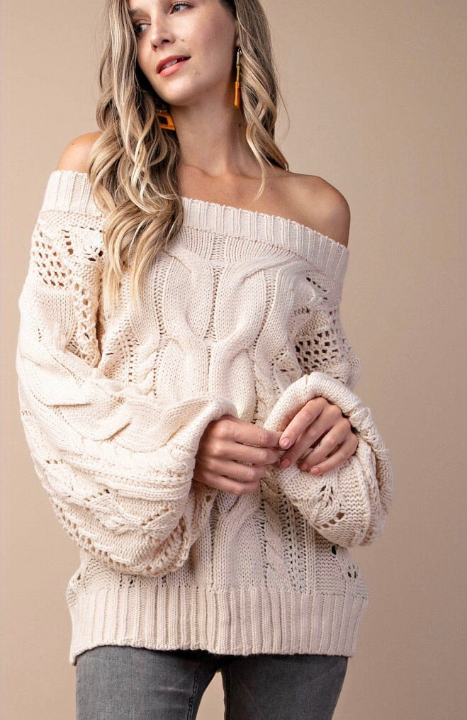 Puff Sleeve Spring Sweater
