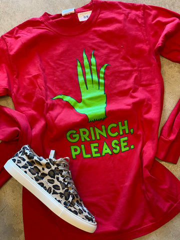 Grinch Please Long Sleeve