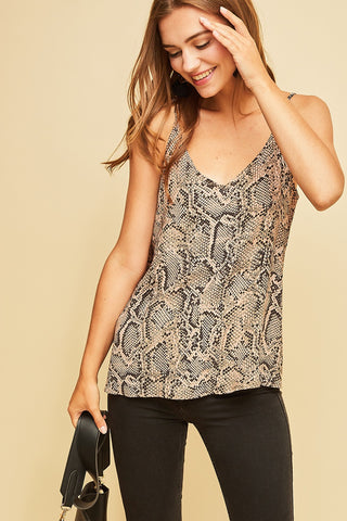 THE FLAMINGO RANCH snake skin tank