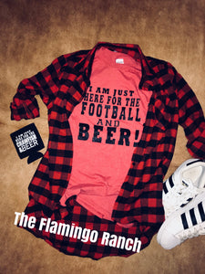 THE FLAMINGO RANCH  Football and Beer Tee