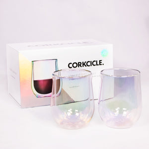 Corkcicle Glass Stemless-Set of 2