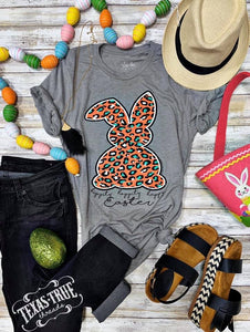 Bright Leopard Easter Bunny Tee